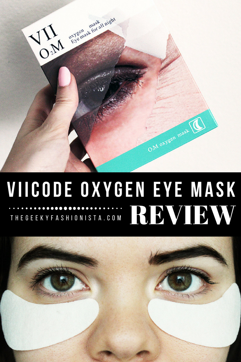 VII Code Oxygen Eye Mask Review // The Geeky Fashionista