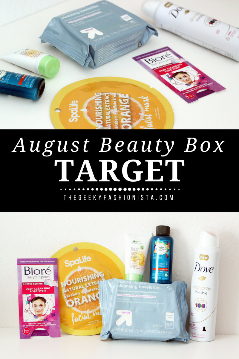 August 2017 Target Beauty Box // The Geeky Fashionista