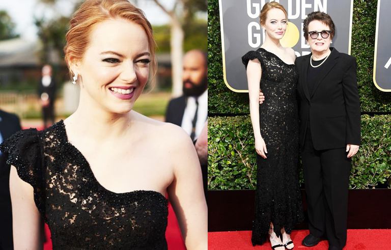 Golden Globes Best Dressed - Emma Stone // The Geeky Fashionista